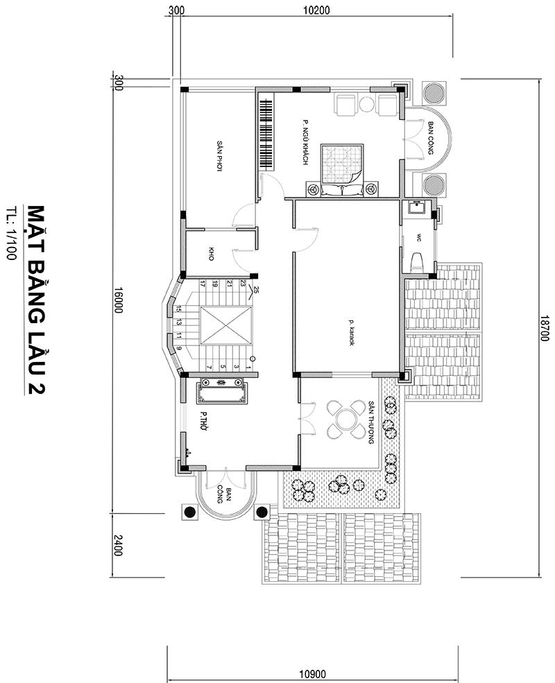 MB LẦU 2 ANH HUNG Mẫu biệt thự 3 tầng mái thái tân cổ điển 11,4x17m ĐẸP MỸ MÃN ở Đồng Tháp nhờ chọn c.ty thiết kế như ý