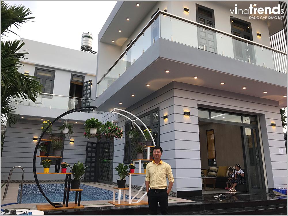 biet thu 2 tang mini dep 15m dai 20m do vinatrends thiet ke thi cong tron goi khong phat sinh 18 VinaTrends: Công ty xây dựng tại Đồng Nai hơn 300 công trình thiết kế xây nhà trọn gói toàn Việt Nam