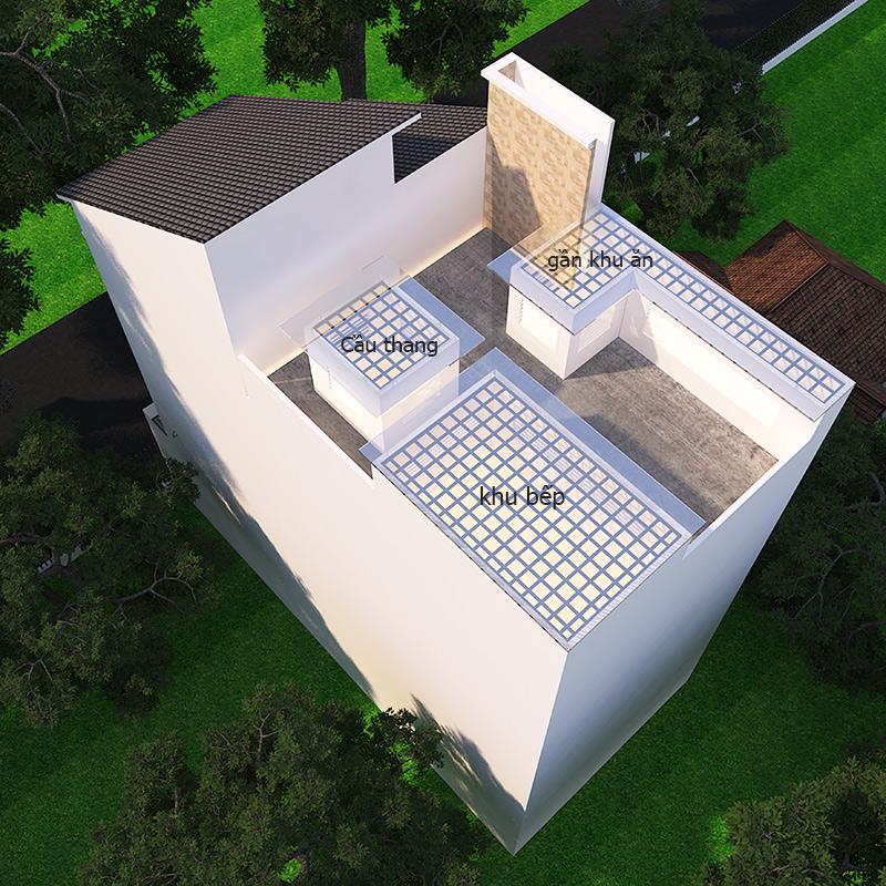 bo tri gieng troi cho nha pho Mẫu nhà 3 tầng đẹp hiện đại 6,7x12m có 3 giếng trời cho chủ nhà ưu tiên ánh sáng ở Biên Hòa