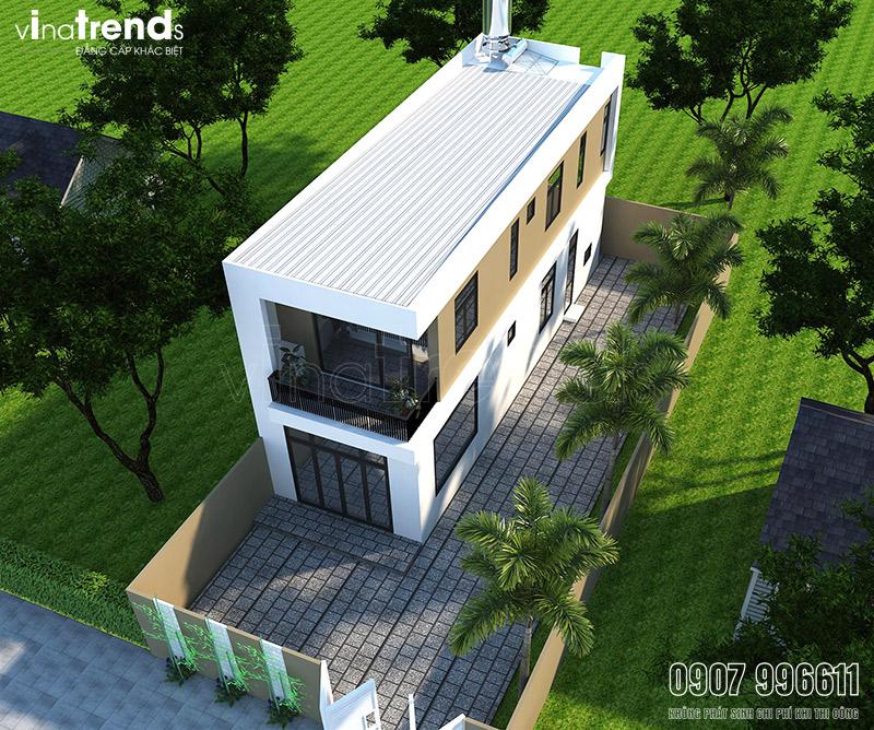 mau nha 2 tang dep hien dai mat tien 5m 3 2 mẫu nhà 2 tầng hiện đại mặt tiền tầm 5m tiết kiệm 2 5 năm thỏa mái sở hữu