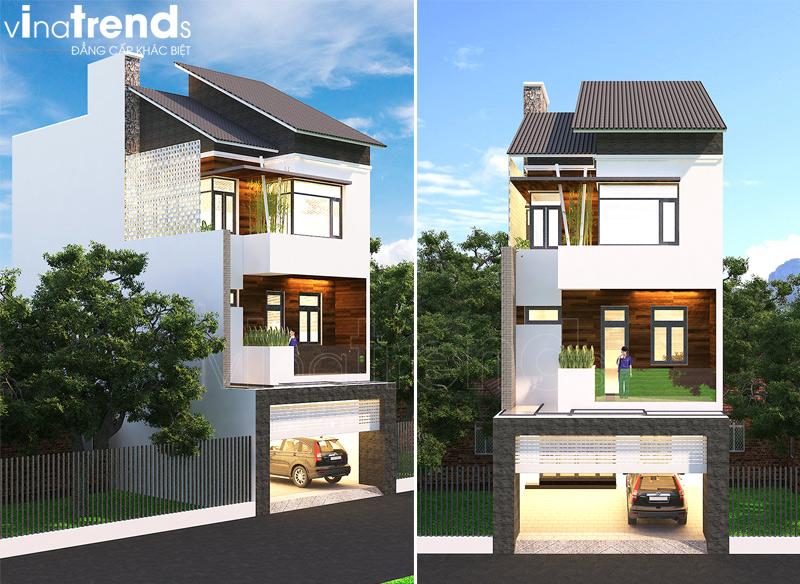 mau nha 3 tang hien dai co gieng troi 8 VinaTrends   Công ty xây dựng tại Đồng Nai hơn 499 công trình thiết kế xây nhà trọn gói trên toàn Việt Nam