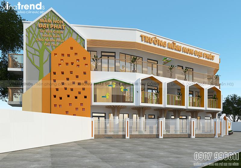 mau truong mam non 3 tang dep o bien hoa 1 Bản vẽ mẫu thiết kế trường mầm non tư thục Đại Phát 3 tầng hơn 200m2   niềm tự hào quê hương Biên Hòa