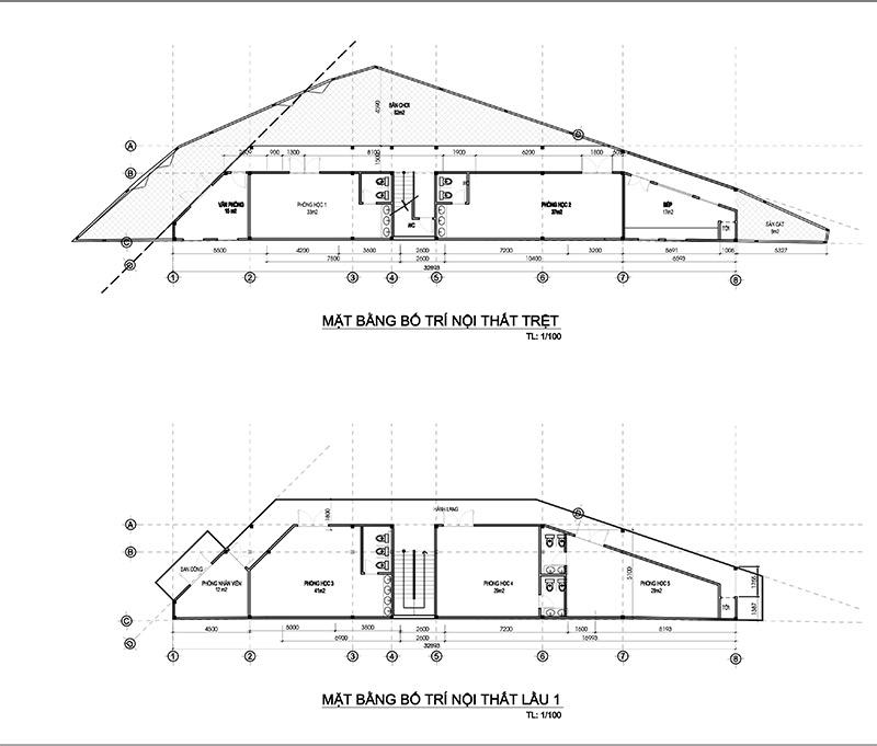 mau truong mam non 3 tang dep o bien hoa 5 Bản vẽ mẫu thiết kế trường mầm non tư thục Đại Phát 3 tầng hơn 200m2   niềm tự hào quê hương Biên Hòa