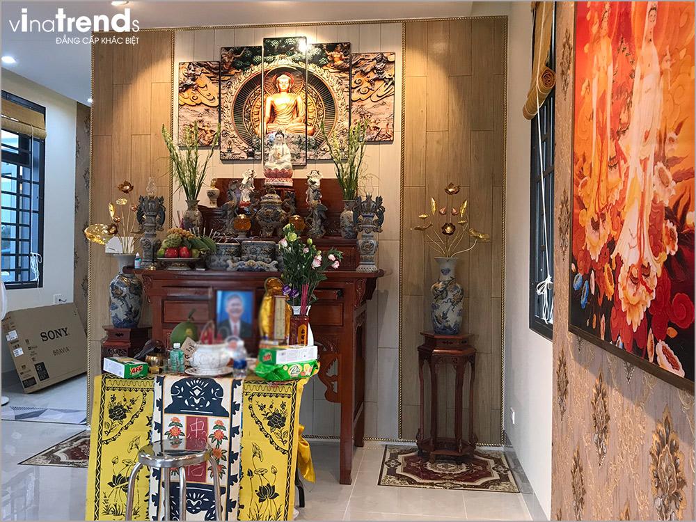 trang tri phong tho am cung 8 [KHÔNG PHÁT SINH] xây nhà biệt thự 2 tầng ở Đồng Nai từ thiết kế đến hoàn công