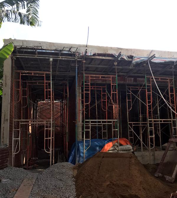 mau nha 1 tang hien dai thi cong phan tho 26.10 Biệt thự vườn nhà 1 tầng hiện đại 8x19m kiểu phương Tây không gian mở ở Biên Hòa