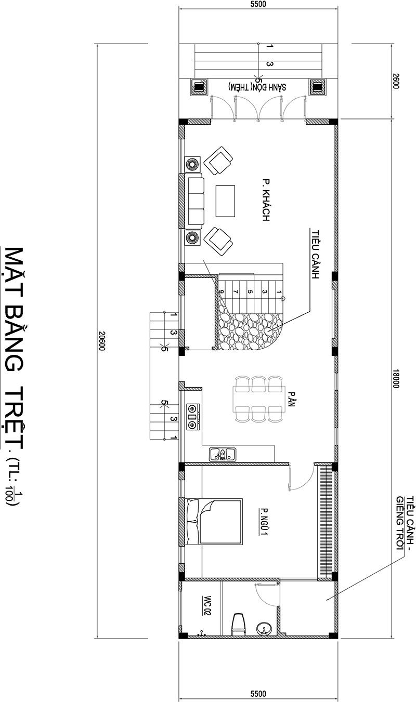 mau nha 2 tang dep mat tien 55m dai 18m kieu mai thai cach tan da lat 6 Mẫu nhà 2 tầng mái thái kiểu Đà Lạt mặt tiền 5,5m dài 18m vợ chồng chị Hồng   Bình Dương