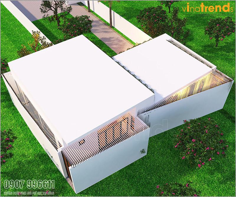 nha 1 tang hien dai chau au 8m dai 19m kieu san vuon vinatrends thiet ke thi cong 3 50+ Các mẫu nhà biệt thự hiện đại mái ngói   mái bê tông 2 3 4 5 tầng đáng xây ngay năm nay