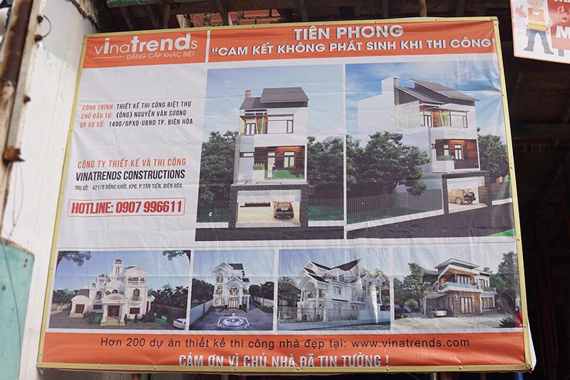 thi cong nha 3 tang hien dai cong ty xay dung bien hoa 2 Mẫu nhà 3 tầng đẹp hiện đại 6,7x12m có 3 giếng trời cho chủ nhà ưu tiên ánh sáng ở Biên Hòa