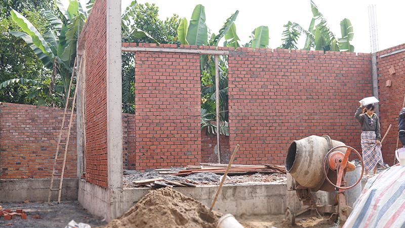 cong ty xay dung bien hoa nha a trang 1 Biệt thự vườn nhà 1 tầng hiện đại 8x19m kiểu phương Tây không gian mở ở Biên Hòa