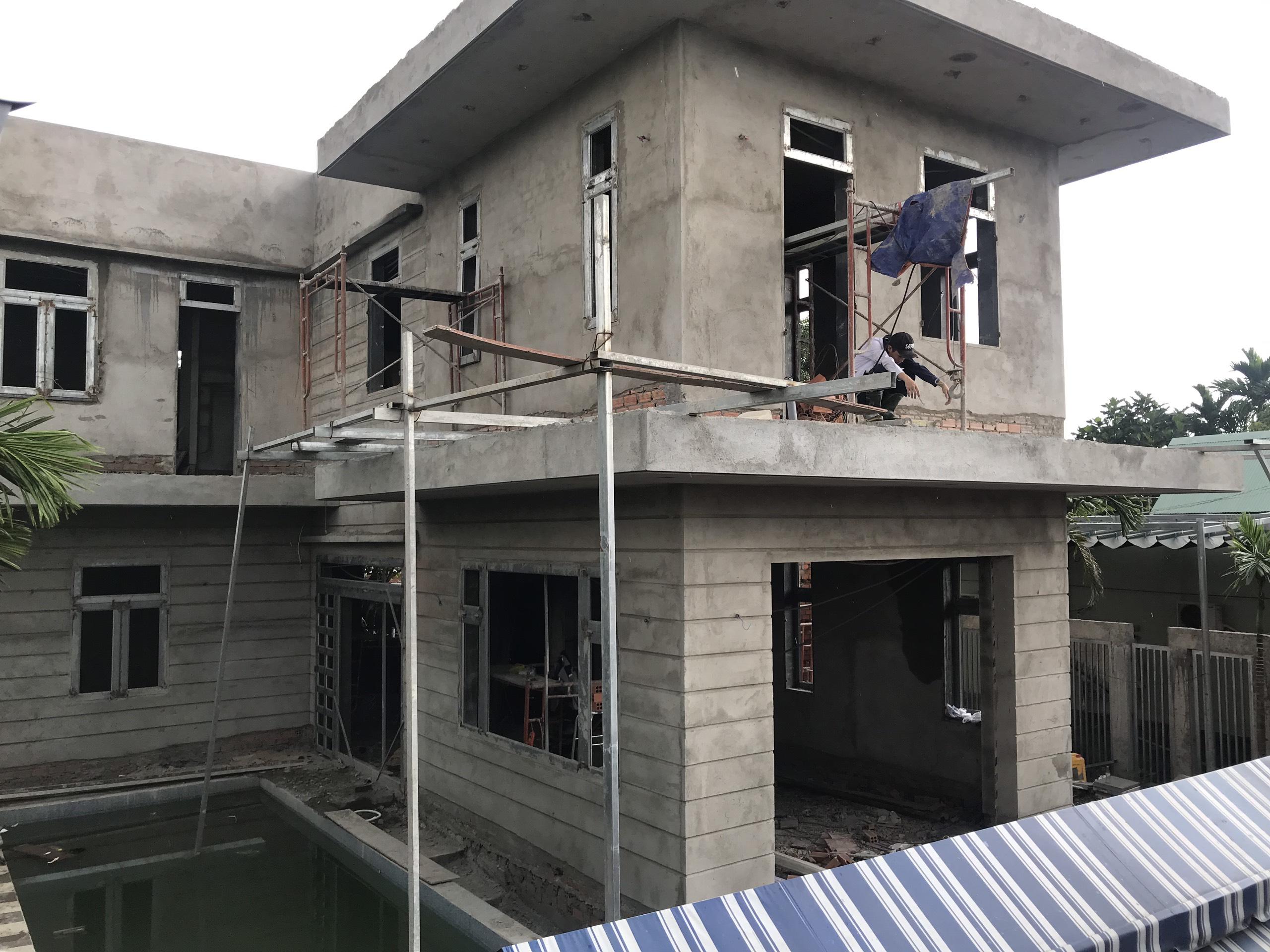 mau nha 2 tang thi cong 11 [KHÔNG PHÁT SINH] xây nhà biệt thự 2 tầng ở Đồng Nai từ thiết kế đến hoàn công