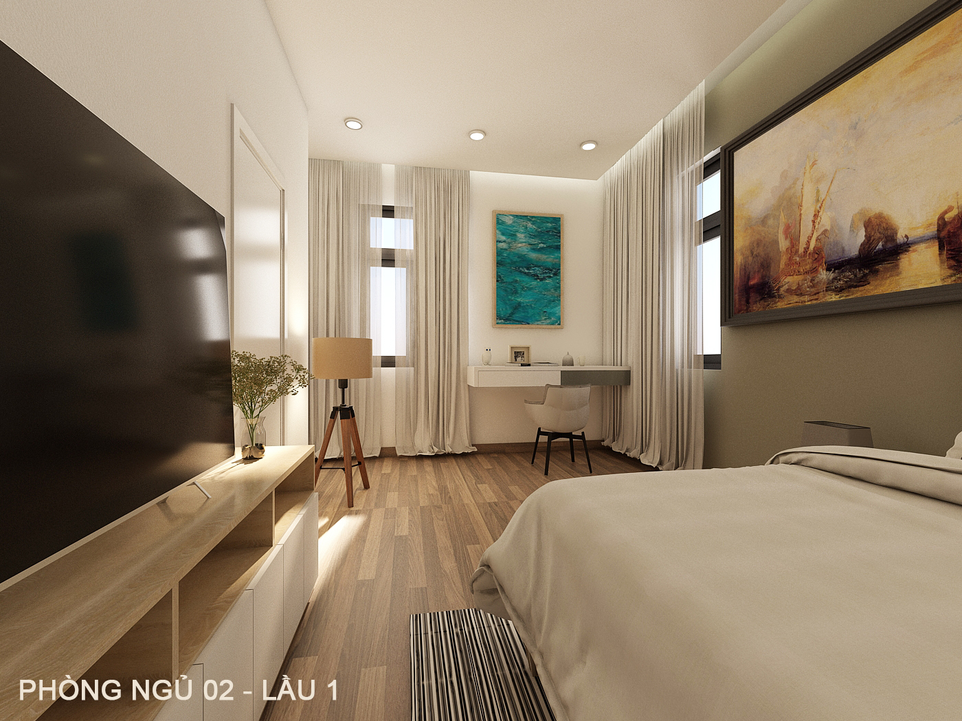 noi that hien dai biet thu 2 tang mini 3 [KHÔNG PHÁT SINH] xây nhà biệt thự 2 tầng ở Đồng Nai từ thiết kế đến hoàn công