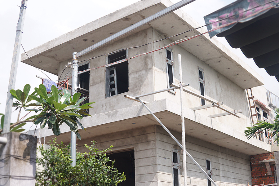 xay biet thu hien dai o long thanh [KHÔNG PHÁT SINH] xây nhà biệt thự 2 tầng ở Đồng Nai từ thiết kế đến hoàn công