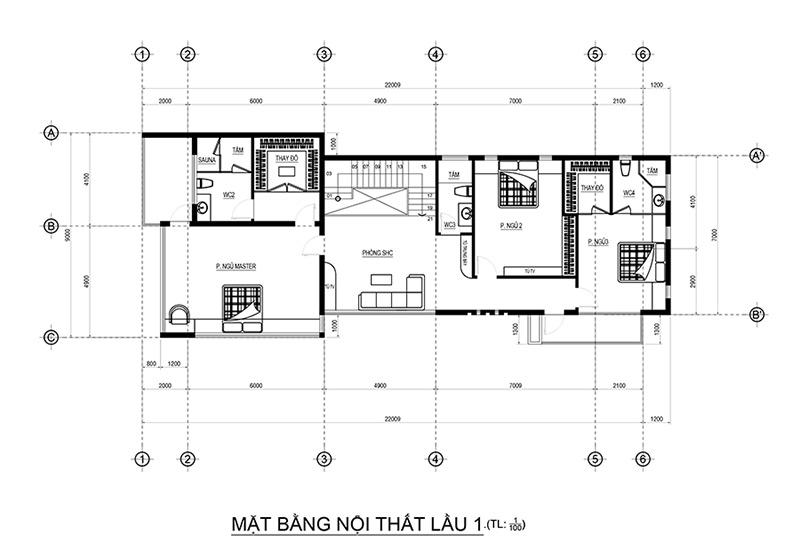 mau biet thu 2 tang hien dai dep mat tien 9m dai 22m o phu quoc do vinatrends thiet ke 4 Mẫu biệt thự 2 tầng đẹp mặt tiền 9x22m kiểu hiện đại dự kiến xây năm 2020 ở Phú Quốc