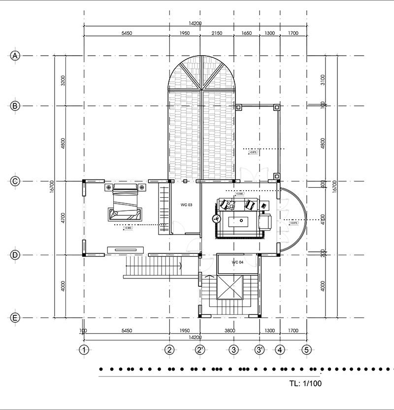 mau nha 2 tang kien truc nha da lat do vinatrends thiet ke 8 Mẫu nhà 2 tầng đẹp kiến trúc Đà Lạt 14x17m giúp tôi cân bằng cuộc sống tuổi 30