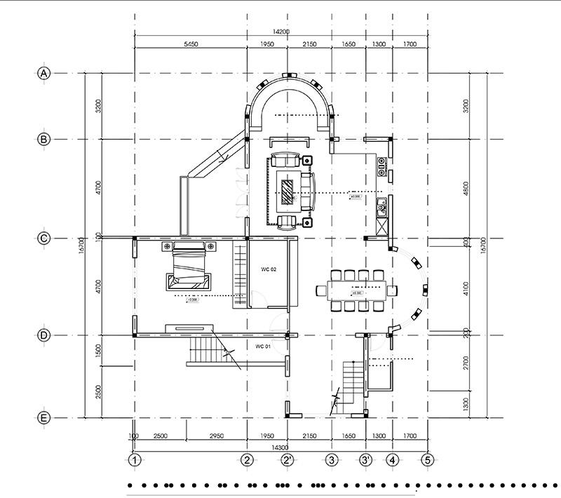 mau nha 2 tang kien truc nha da lat do vinatrends thiet ke 9 Mẫu nhà 2 tầng đẹp kiến trúc Đà Lạt 14x17m giúp tôi cân bằng cuộc sống tuổi 30