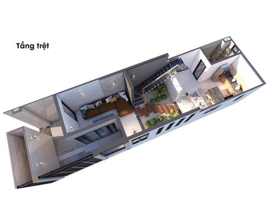 mat bang cong nang biet thu 3 tang Mẫu nhà đẹp 1 trệt 2 lầu 1 sân thượng diện tích NHỎ XÍU 4,5x16,5m phù phép to như biệt thự ở Biên Hòa