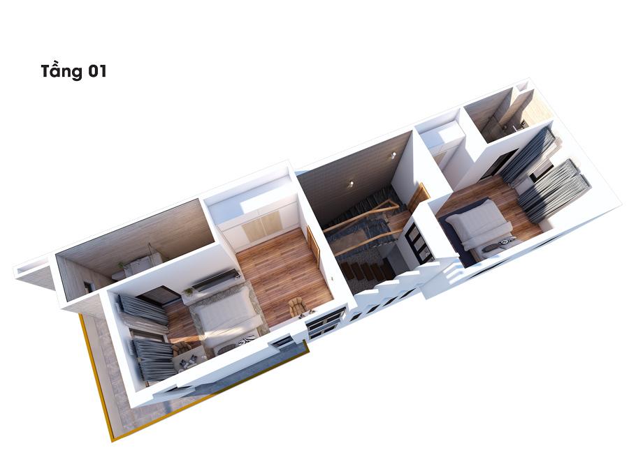 mat bang cong nang biet thu dep 3 tang lau 1 Mẫu nhà đẹp 1 trệt 2 lầu 1 sân thượng diện tích NHỎ XÍU 4,5x16,5m phù phép to như biệt thự ở Biên Hòa