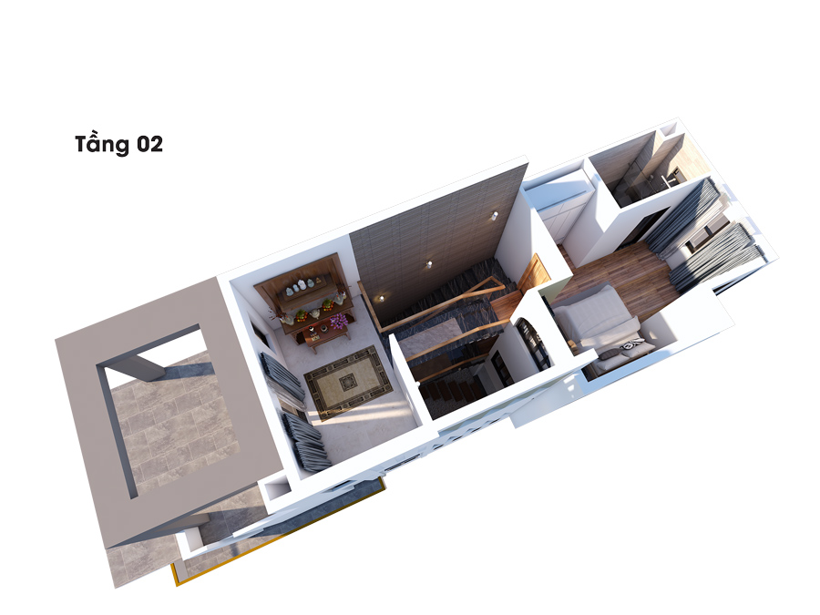 mat bang cong nang biet thu dep 3 tang lau 2 Mẫu nhà đẹp 1 trệt 2 lầu 1 sân thượng diện tích NHỎ XÍU 4,5x16,5m phù phép to như biệt thự ở Biên Hòa