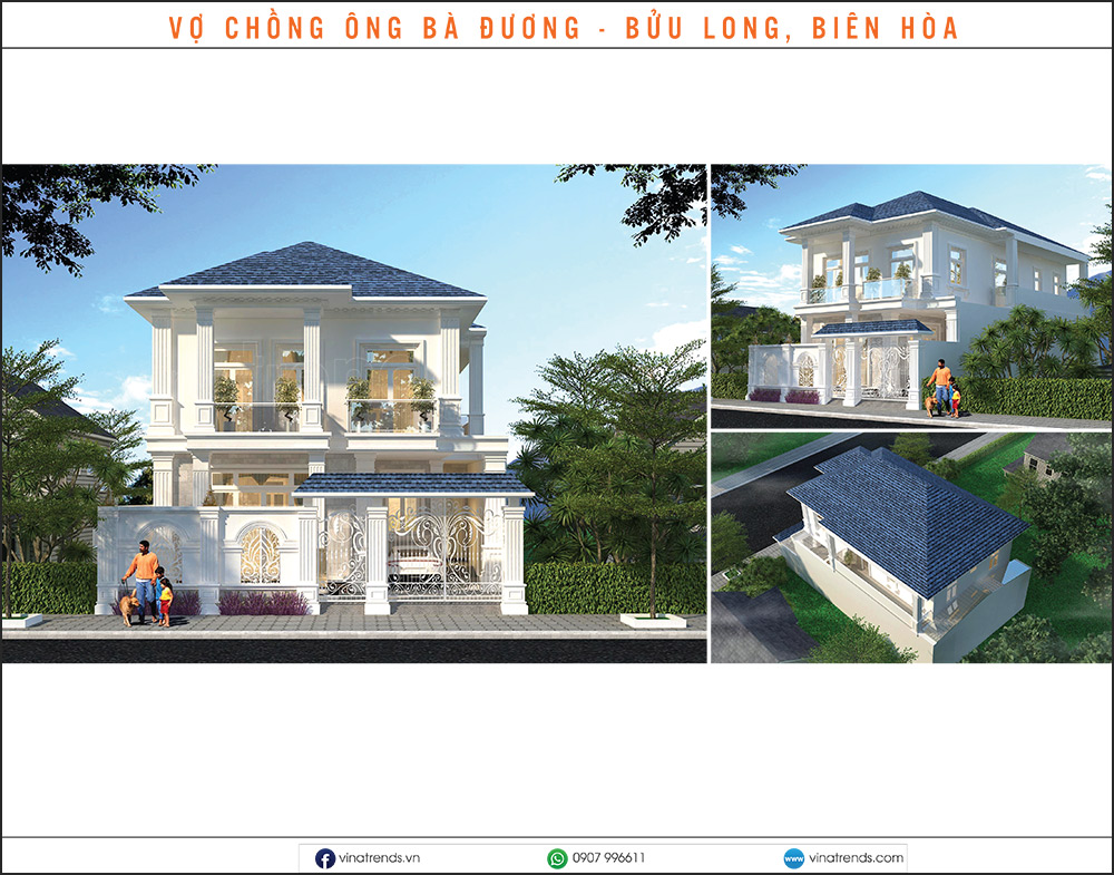 mau biet thu dep nhat 2020 20 Mẫu biệt thự đẹp 1   2   3   4   5 tầng [catalogue 2020]