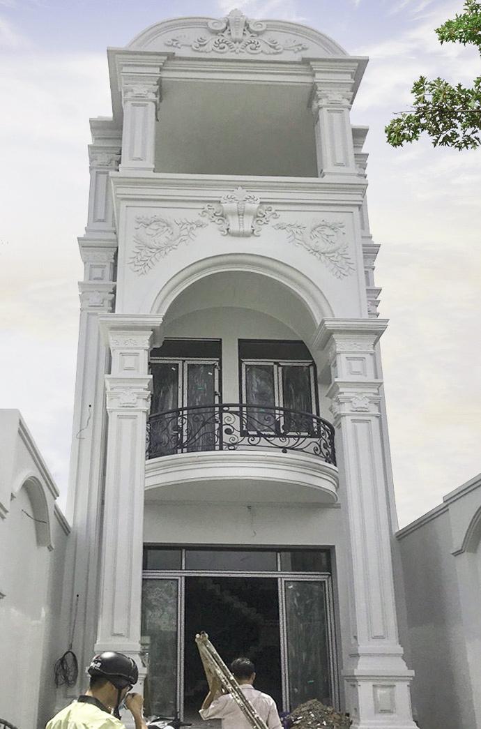 mau biet thu pho 3 tang co dien mat tien 6m dep Mẫu biệt thự cổ điển 3 tầng 6x26m ở Biên Hòa nhà anh Tại mê ngay 3D phối cảnh kiến trúc