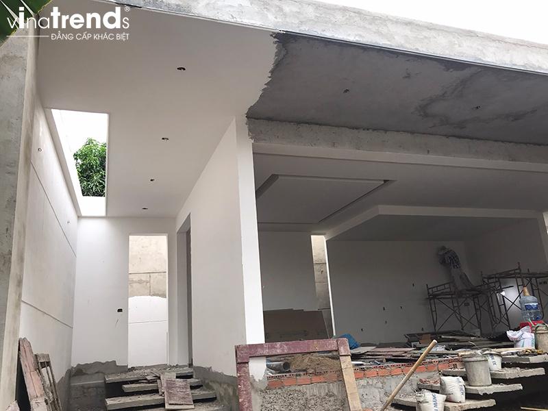 mau nha 1 tang dang thi cong dep Biệt thự vườn nhà 1 tầng hiện đại 8x19m kiểu phương Tây không gian mở ở Biên Hòa