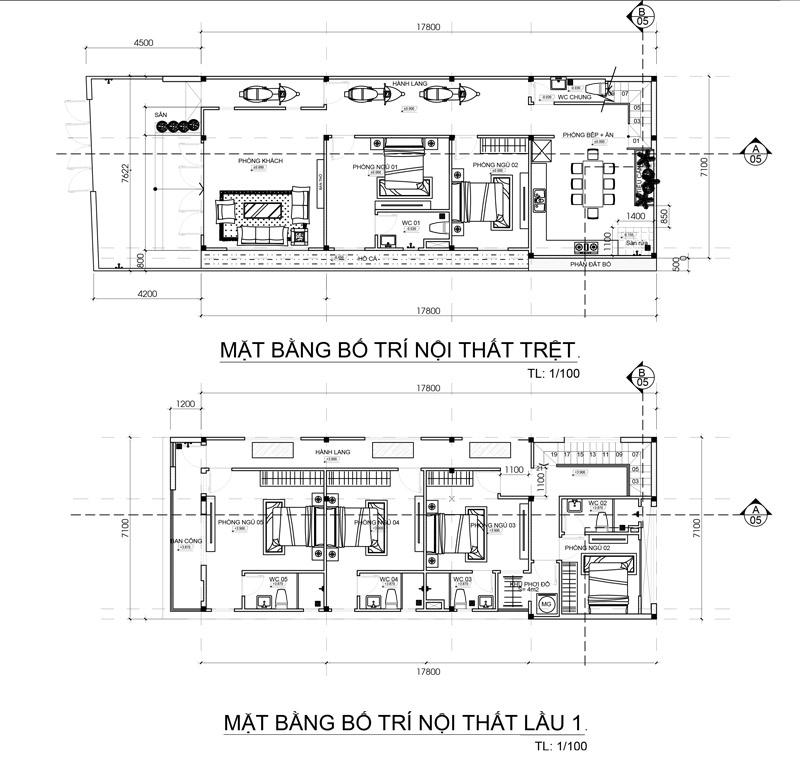 mau nha 2 tang dep mat tien 7m co 5 phong ngu o long khanh 4 Mẫu nhà 2 tầng đẹp 7,1x18m có 6 phòng ngủ công năng sử dụng THÔNG MINH nhà anh Tuấn ở Đồng Nai