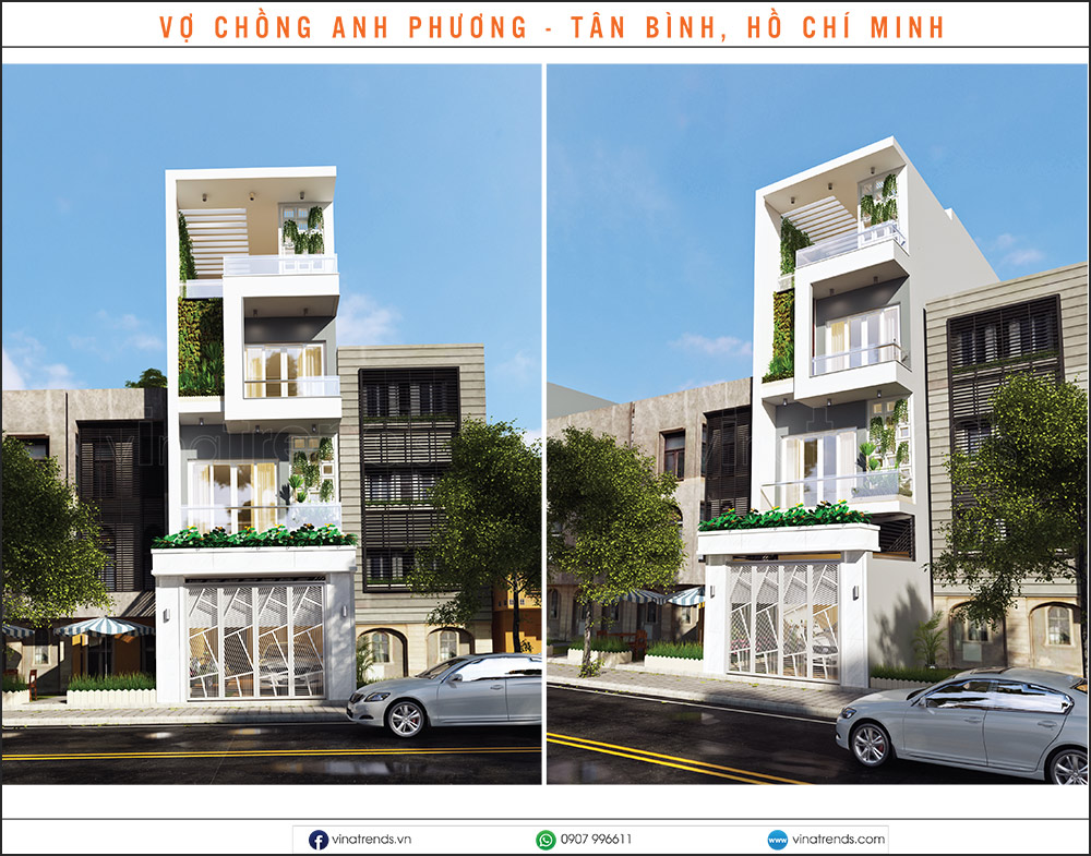 mau nha pho dep moi nhat 1 2 3 4 5 tang 26 15+ mẫu nhà 2 3 4 5 tầng mặt tiền 4m trở lên đẹp sang tiện nghi từ khách VinaTrends đã xây dựng