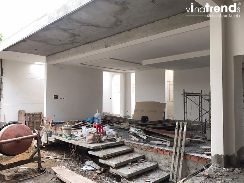 xay nha tron goi o bien hoa Biệt thự vườn nhà 1 tầng hiện đại 8x19m kiểu phương Tây không gian mở ở Biên Hòa