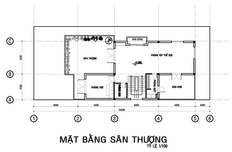 ban ve san thuong biet thu anh hai gia lai  Mẫu thiết kế biệt thự 3 tầng 8x18m chữ L đẹp đáng giá tiền tỉ của anh Dũng ở Thủ Đức
