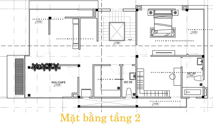 l2 Mẫu nhà biệt thự 3 tầng hiện đại 8,5m dài 16,5m có sân vườn rộng chứa bao ân tình dành cho gia đình ở Long Thành