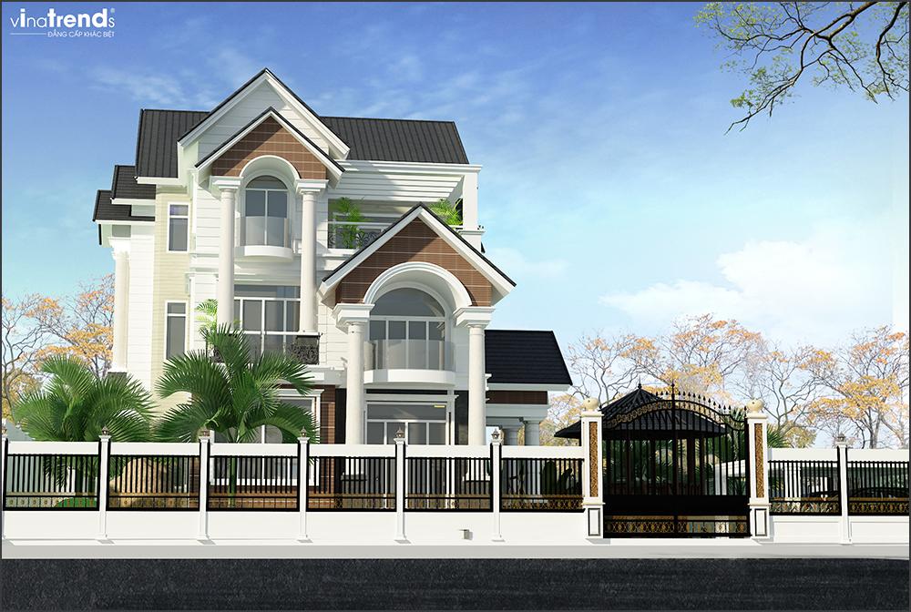 mau biet thu 3 tang mai thai san vuon rong o long thanh bien hoa 1 VinaTrends   Công ty xây dựng tại Đồng Nai hơn 499 công trình thiết kế xây nhà trọn gói trên toàn Việt Nam