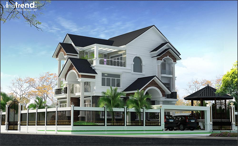 mau biet thu 3 tang mai thai san vuon rong o long thanh bien hoa 3 VinaTrends   Công ty xây dựng tại Đồng Nai hơn 499 công trình thiết kế xây nhà trọn gói trên toàn Việt Nam