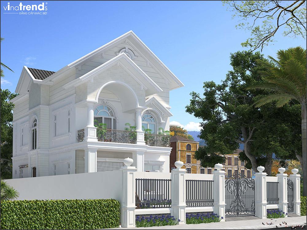 mau biet thu 3 tang mai thai san vuon rong o long thanh bien hoa 5 VinaTrends   Công ty xây dựng tại Đồng Nai hơn 499 công trình thiết kế xây nhà trọn gói trên toàn Việt Nam