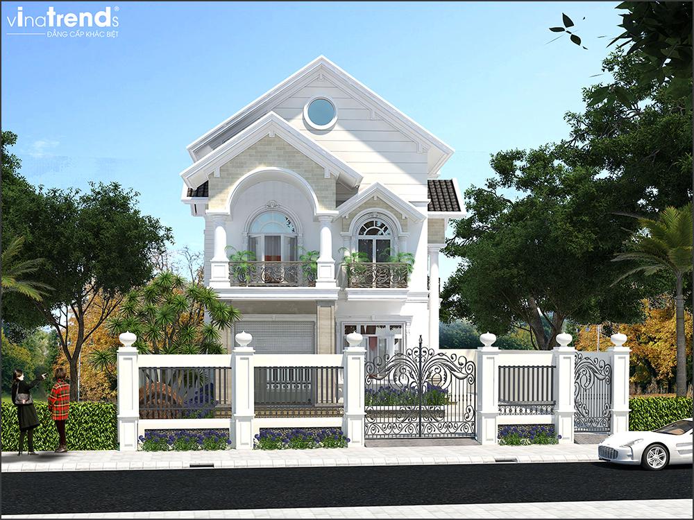 mau biet thu 3 tang mai thai san vuon rong o long thanh bien hoa 8 VinaTrends   Công ty xây dựng tại Đồng Nai hơn 499 công trình thiết kế xây nhà trọn gói trên toàn Việt Nam