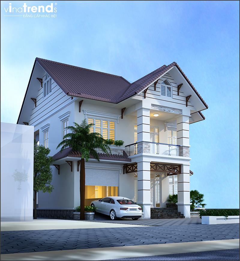 mau biet thu mai thai 2 tang 2 mat tien do vinatrends thiet ke thi cong 6 VinaTrends   Công ty xây dựng tại Đồng Nai hơn 499 công trình thiết kế xây nhà trọn gói trên toàn Việt Nam