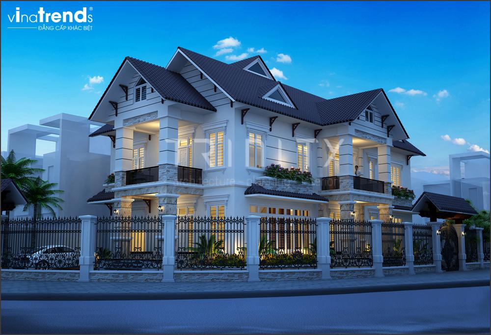 mau biet thu mai thai 2 tang 2 mat tien do vinatrends thiet ke thi cong 7 VinaTrends   Công ty xây dựng tại Đồng Nai hơn 499 công trình thiết kế xây nhà trọn gói trên toàn Việt Nam