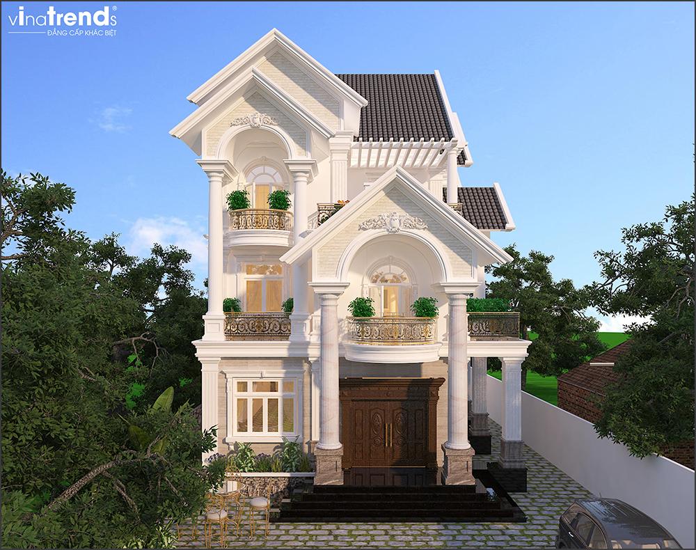 mau biet thu mai thai 3 tang co san vuon dep 1 VinaTrends   Công ty xây dựng tại Đồng Nai hơn 499 công trình thiết kế xây nhà trọn gói trên toàn Việt Nam