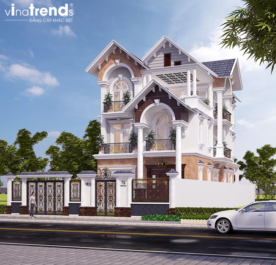 mau biet thu mai thai 3 tang dam bao dep nhat 2 VinaTrends   Công ty xây dựng tại Đồng Nai hơn 499 công trình thiết kế xây nhà trọn gói trên toàn Việt Nam
