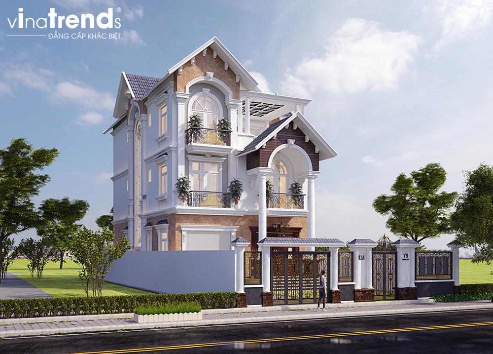 mau biet thu mai thai 3 tang dam bao dep nhat 3 VinaTrends   Công ty xây dựng tại Đồng Nai hơn 499 công trình thiết kế xây nhà trọn gói trên toàn Việt Nam