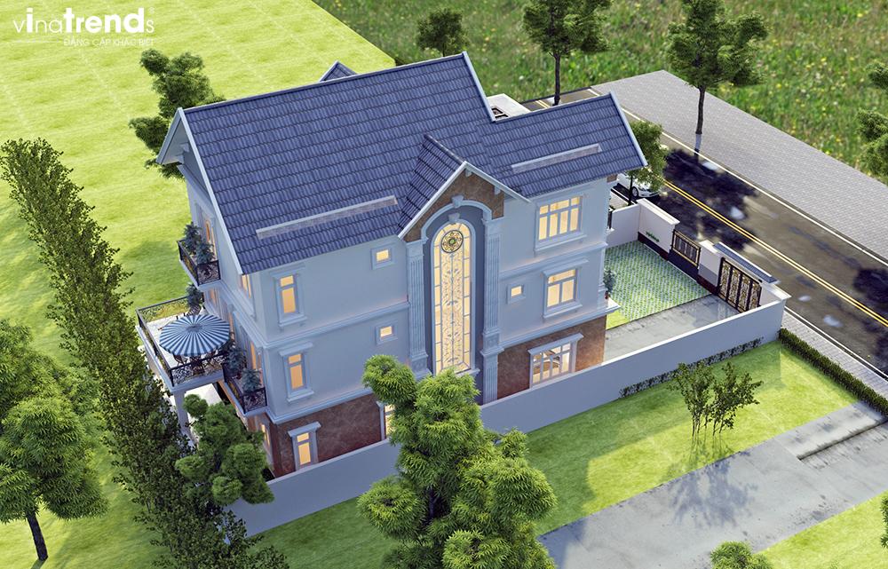 mau biet thu mai thai 3 tang dam bao dep nhat 15 Mẫu nhà biệt thự mái thái 2 3 4 tầng   Chiến binh đáng xây năm 2020   2021