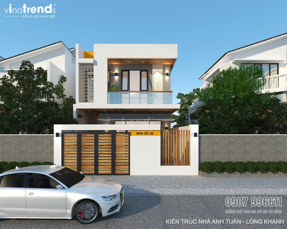 mau nha 2 tang don gian co san truoc rong mat tien 7m VinaTrends   Công ty xây dựng tại Đồng Nai hơn 499 công trình thiết kế xây nhà trọn gói trên toàn Việt Nam