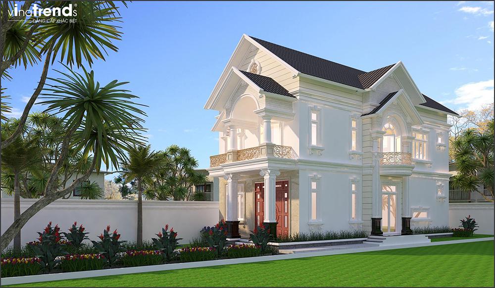 mau nha biet thu 2 tang mai thai dep 2 15 Mẫu nhà biệt thự mái thái 2 3 4 tầng   Chiến binh đáng xây năm 2020   2021