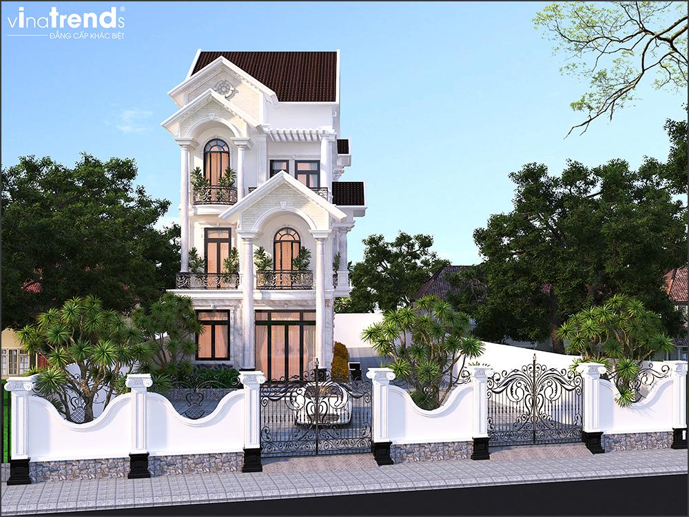 mau nha biet thu dep mai thai 3 tang vinatrends thiet ke 2 VinaTrends   Công ty xây dựng tại Đồng Nai hơn 499 công trình thiết kế xây nhà trọn gói trên toàn Việt Nam