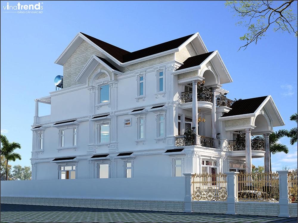 mau nha biet thu mai thai dep 3 tang o binh duong 1 VinaTrends   Công ty xây dựng tại Đồng Nai hơn 499 công trình thiết kế xây nhà trọn gói trên toàn Việt Nam