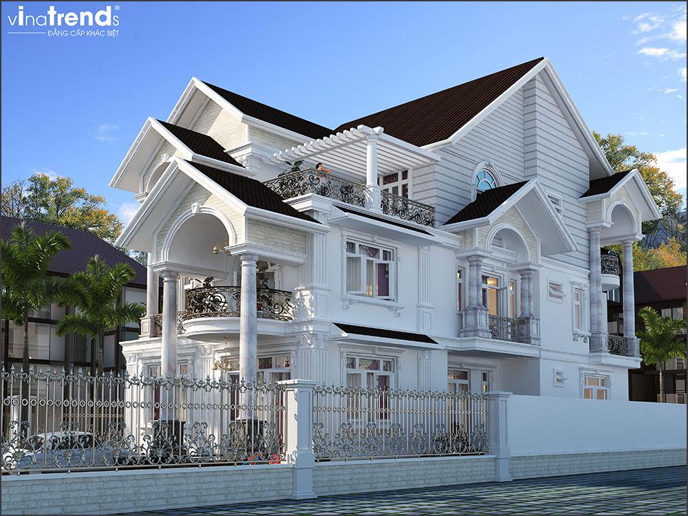 mau nha biet thu mai thai dep 3 tang o binh duong 3 VinaTrends   Công ty xây dựng tại Đồng Nai hơn 499 công trình thiết kế xây nhà trọn gói trên toàn Việt Nam