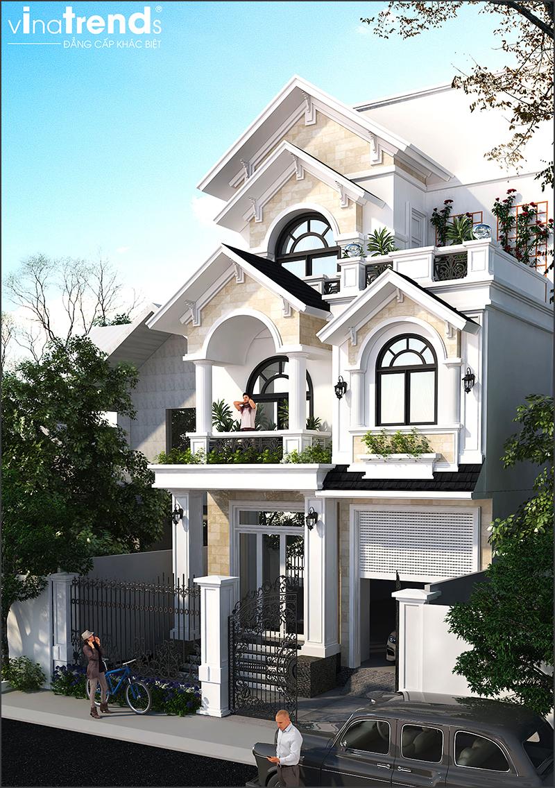mau nha mai thai 3 tang dep o bien hoa 2 15 Mẫu nhà biệt thự mái thái 2 3 4 tầng   Chiến binh đáng xây năm 2020   2021