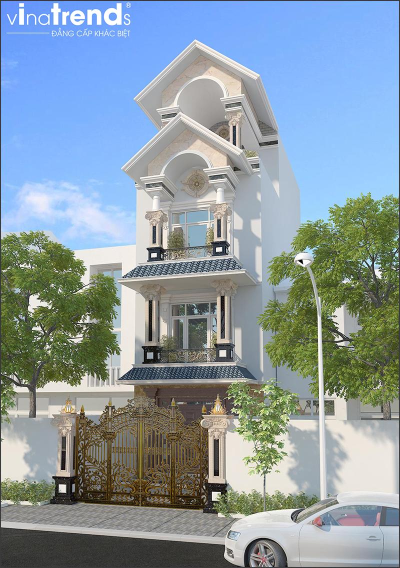mau nha pho mai thai 4 tang dep 2 15 Mẫu nhà biệt thự mái thái 2 3 4 tầng   Chiến binh đáng xây năm 2020   2021