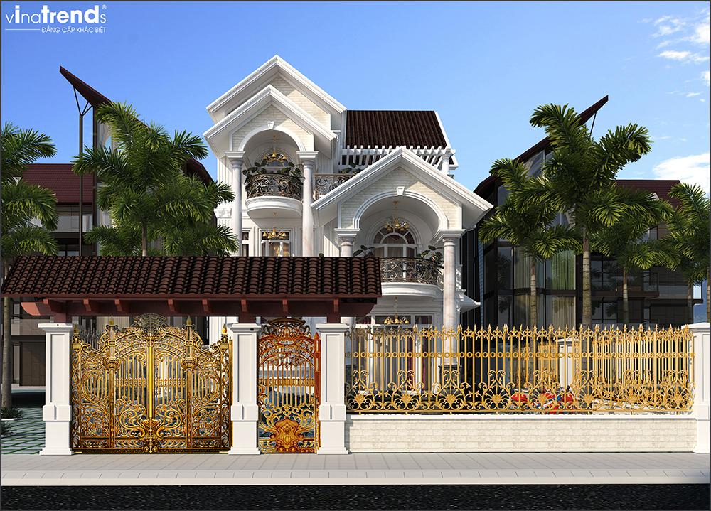 mau nha pho mai thai 4 tang dep 3 VinaTrends   Công ty xây dựng tại Đồng Nai hơn 499 công trình thiết kế xây nhà trọn gói trên toàn Việt Nam