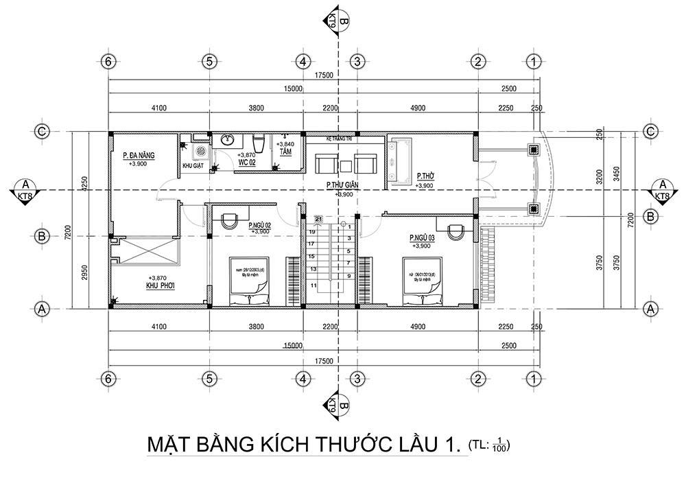 mat bang nha 2 tang mai thai tang tret Mẫu nhà biệt thự 2 tầng mái thái 7,2m dài 17,5m liều thuốc sống chậm lại ăn cơm nhà nhiều hơn