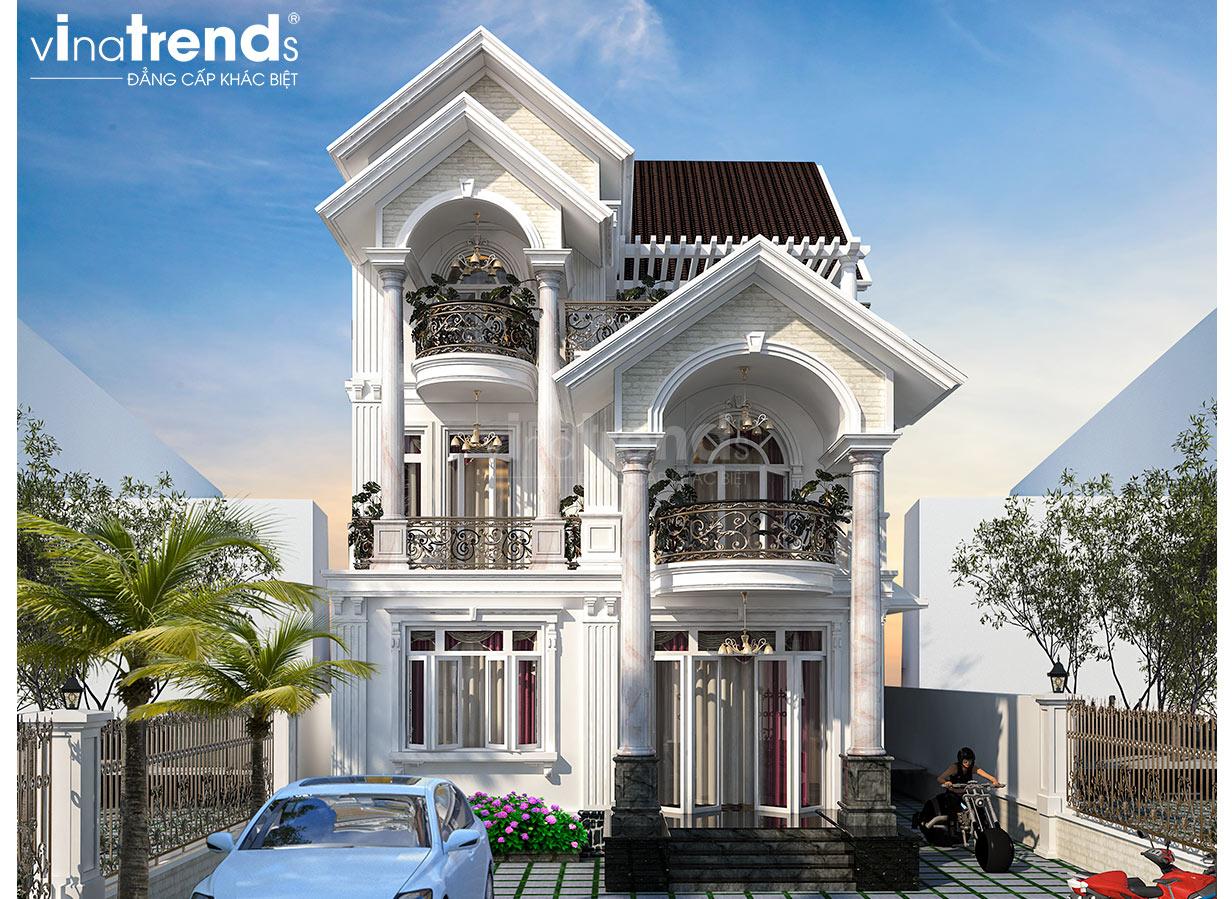 mau nha 3 tang mai thai tan co dien dep nhut Chiêm ngưỡng mẫu biệt thự 3 tầng đẹp mặt tiền 7x15m phong cách cổ điển anh Dương Vĩnh Phúc